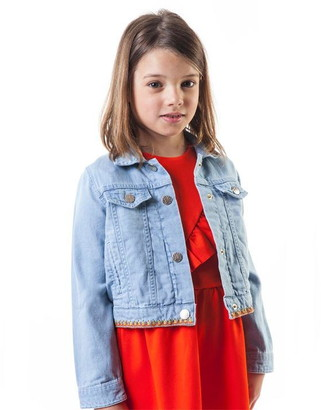 Carrément Beau Girls Light Denim Jacket