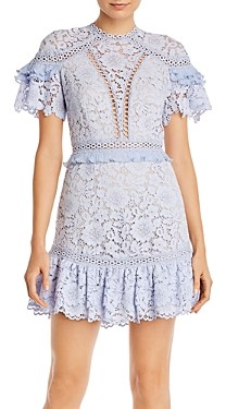 Saylor Julep Lace Ruffled Trim Dress