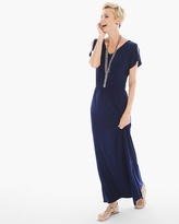Chico's Solid Cross-Back Maxi Dress
