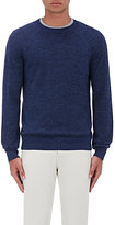 Barneys New York Men's Mélange Alpaca-Cotton Raglan Sweater