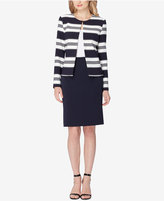 Tahari ASL Striped Contrast Skirt Suit