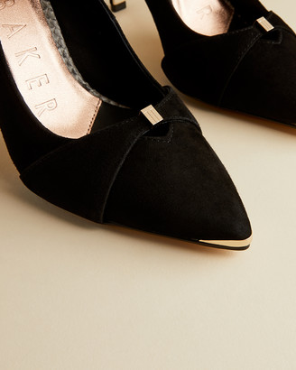 Ted Baker AXEALLI Suede bow strap courts shoes