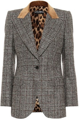 Dolce & Gabbana Checked wool-blend blazer