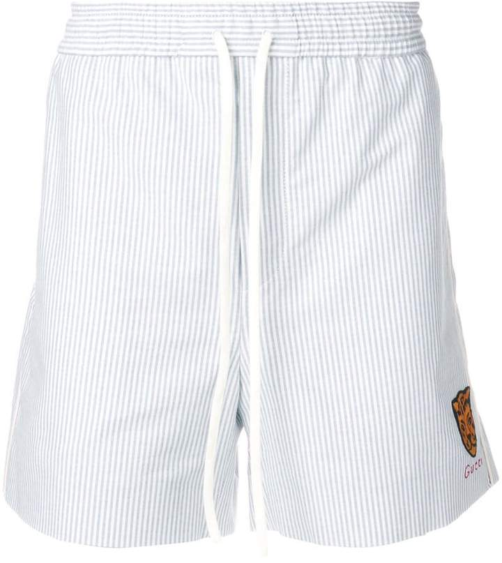 Gucci oxford stripe shorts