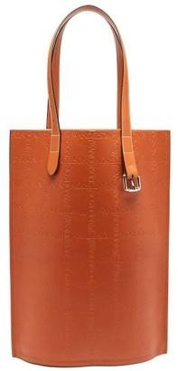 J.W.Anderson Belt Logo-debossed Leather Tote Bag - Black Multi