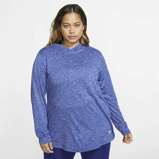 Nike Women's Long-Sleeve Hooded Training Top (Plus Size Dri-FIT Legend