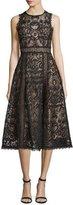 Nanette Lepore Sleeveless Lace Fit & Flare Dress, Black