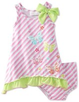 Bonnie Baby Girls Infant Butterfly Screen Print Sundress