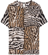 Roberto Cavalli Print Short Sleeve Top