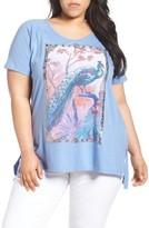 Lucky Brand Plus Size Women's Peacock Tee
