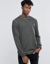 adidas Street Modern Crew Sweatshirt In Green AY9203