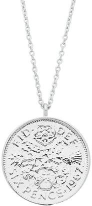 Estella Bartlett Lucky 6 Pence Necklace