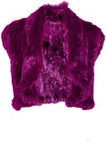 Matthew Williamson Pink Rabbit Fur Shrug