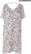Next Womens Glamorous Curve Floral Button Front Dress - White
