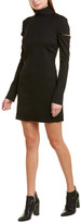 Helmut Lang Scuba Wool-Blend Sheath Dress