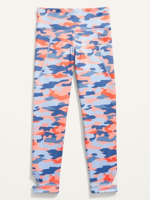 Old Navy Mid-Rise Elevate Ankle-Cutout Go-Dry 7/8-Length Leggings for Girls