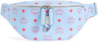 MCM Small Fursten Visetos Leather Belt Bag