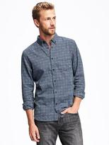 Old Navy Slim-Fit Patterned Twill Shirt for Men