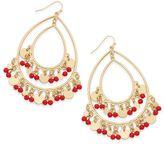 Thalia Sodi Gold-Tone Colored Bead Drop Earrings, Created for Macy's