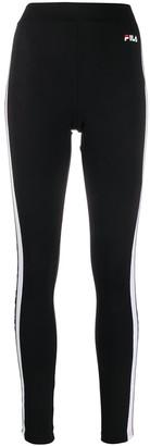 Fila logo panelled activewear leggings