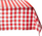 LinenTablecloth.com LinenTablecloth 60 x 126-Inch Rectangular Polyester Tablecloth Red & White Checker
