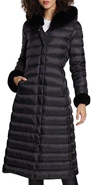 Dawn Levy Lexie Shearling Hood Maxi Puffer Coat