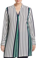 Foxcroft Plus Striped Long Sleeve Tunic