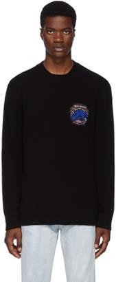 Balmain Black Cashmere Badge Sweatshirt