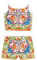 Dolce & Gabbana Graphic tank top and shorts - Mondello