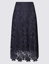 Marks and Spencer Floral Lace A-Line Midi Skirt