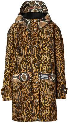 Burberry Leopard Twill Parka