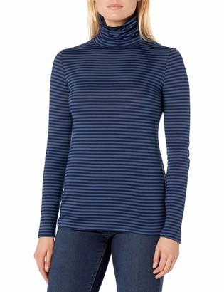 Pendleton Women's Striped Long Sleeve Pima Cotton Turtleneck Tee