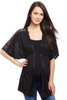 Motherhood Lace Shoulder Maternity Cardigan