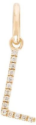 Rosa De La Cruz 18kt gold L initial diamond charm
