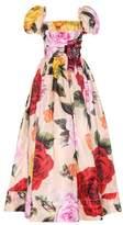Dolce & Gabbana Embellished silk-blend gown