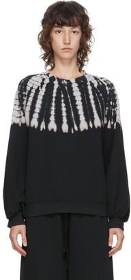 Raquel Allegra Black Tie-Dye Sweatshirt