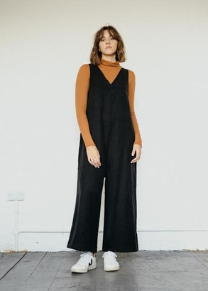 Komodo Chic Black Natural Fabric Jumpsuit - XL