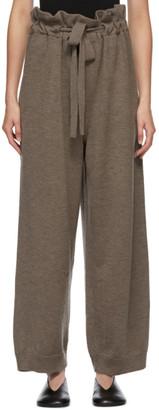 LE 17 SEPTEMBRE LE17SEPTEMBRE Brown Wool Drawstring Lounge Pants