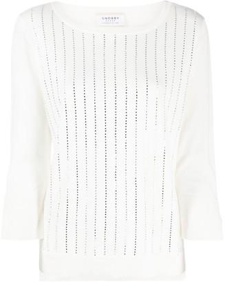 Snobby Sheep Crystal Striped Sweatshirt