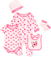 Sweet & Soft Pink 'Sweet!' Five-Piece Layette Set - Infant