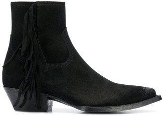 Saint Laurent Lukas fringed boots