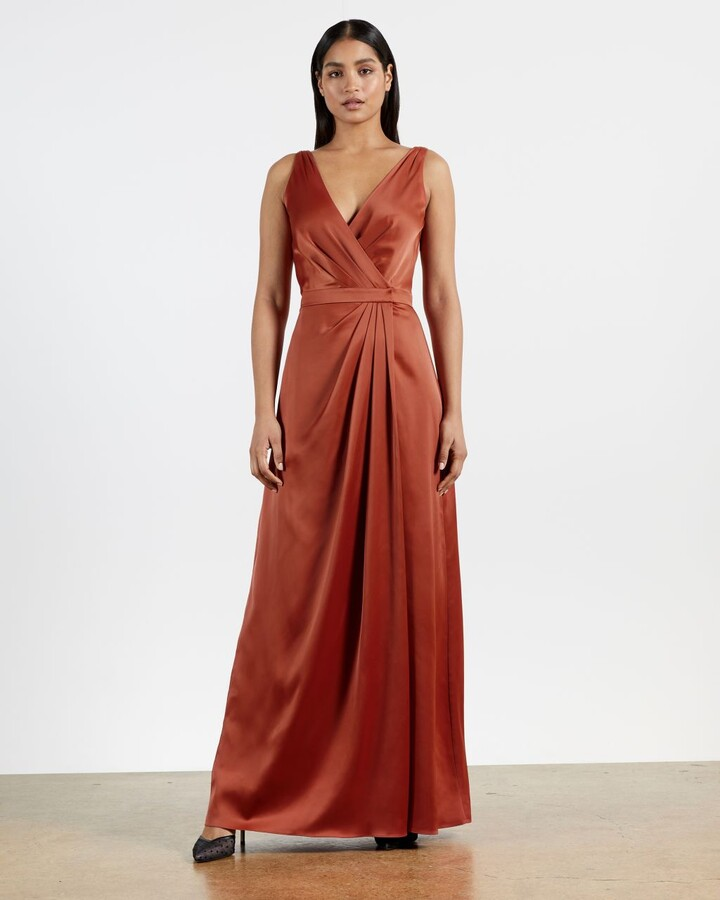 Ted Baker Sleeveless Wrap Gown