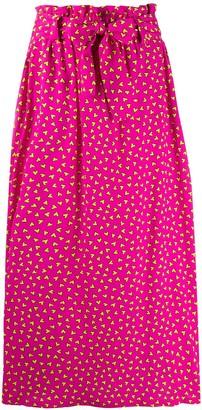 P.A.R.O.S.H. Heart-Print Full Skirt