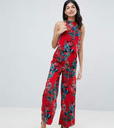 Parisian Tall High Neck Floral Jumpsuit