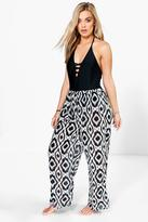 boohoo Plus Siana Mono Beach Trouser multi