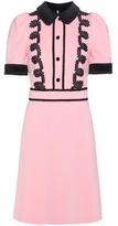 Gucci Lace-trimmed crêpe dress
