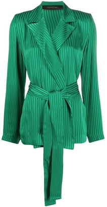 FEDERICA TOSI Belted Striped Pattern Blazer