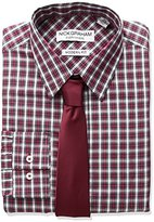 Nick Graham Everywhere Men's Plaid Dress Shirt with Solid Tie