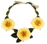 Oscar de la Renta Resin Flower Statement Necklace