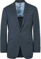 Richard James - Blue Slim-fit Pin-dot Super 110s Wool Suit Jacket